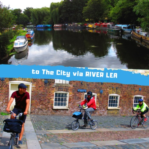 Cycling in London - River Lea