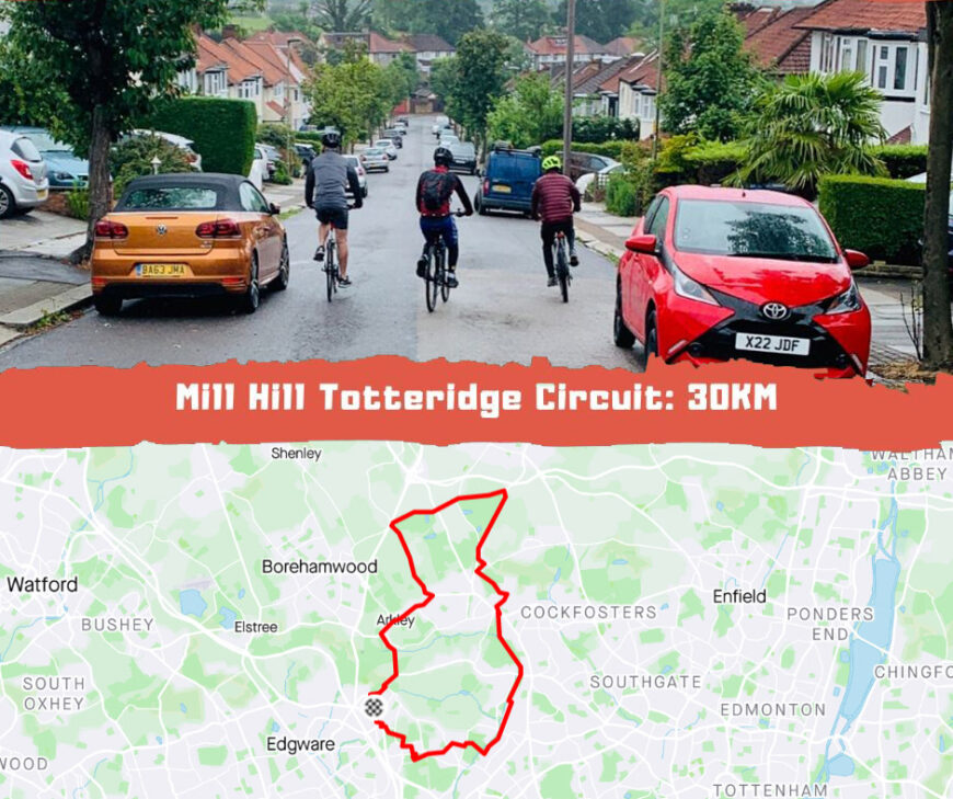 Cycling Route Mill Hill Totteridge