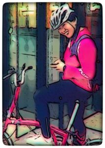 Cyclist Chris